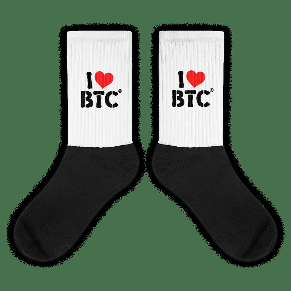 I Love BTC Socks