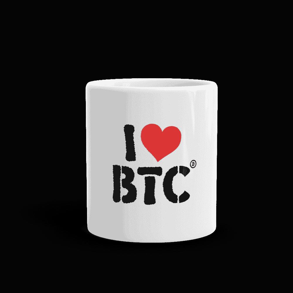 I Love BTC mug