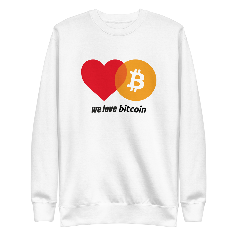 We Love Bitcoin Sweatshirt
