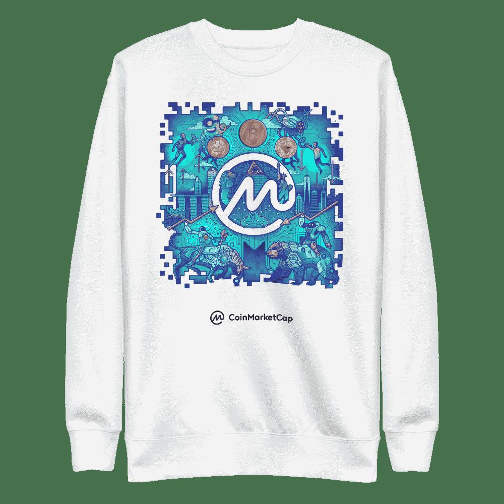 CoinMarketCap Illustration Doodle Sweatshirt